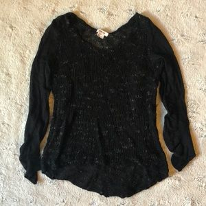 Helmut Lang black open knit sweater, XS